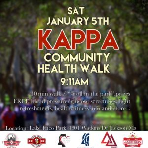 Inaugural J5 Kappa Community Health Walk @ Lake Hico Park